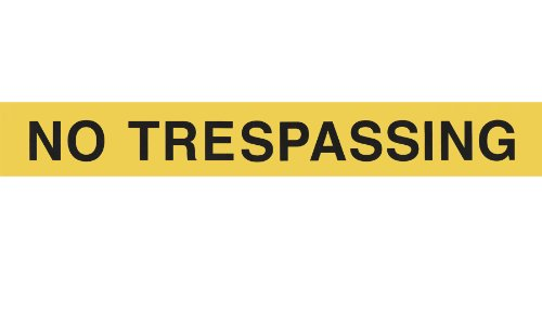 Brownstone No Trespassing Yellow Prepasted Wall Border Roll