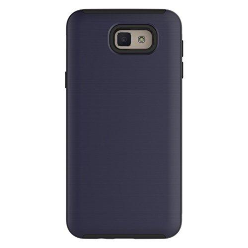 Textura cepillada 2 en 1 caso protector de la combinación de PC + TPU para la galaxia On5 de Samsung (2016) / J5 Primero simple by diebelleu ( Color : Rose gold ) Dark blue