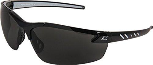 Edge Safety Glasses Zorge Magnifier Smoke Lens Black Frame Black ()