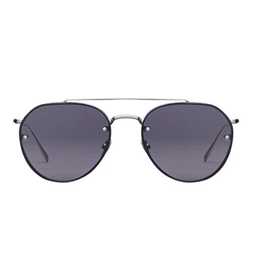 PERVERSE Sunglasses Unisex Dean Ali/Silver Metal/Black Mirrored One - Sunglasses Dean