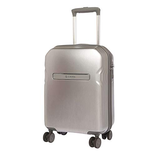 Carlton Edge Insignia Polycarbonate 55 Cms Pearl Silver Hardsided Cabin Luggage