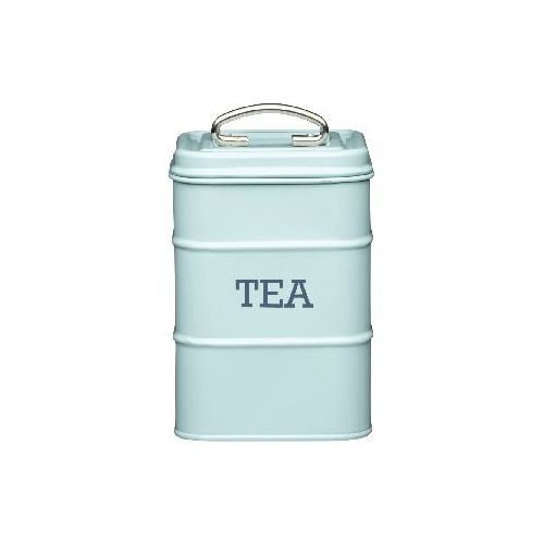 Tea Canister 11 x 17cm Blue (Pack of 2) Living Nostalgia