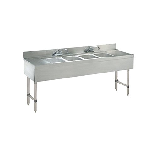4 Bowl Underbar Sinks (Advance Tabco CRB-64C 4 Compartment 72