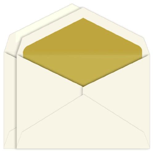 (Gold Lined Inner Outer Envelopes, Embassy Ecru, 25 Pack )