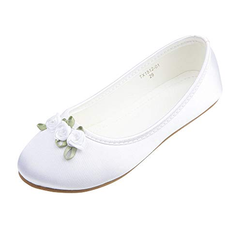 AISLE STYLE Ballerina Non-slip Flower Girl Princess Dress Shoes School Party Wedding Ballet Flats Toddler Size -
