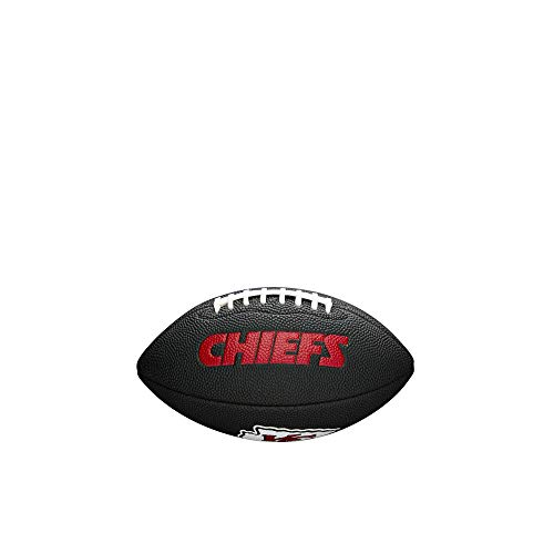 NFL Team Logo Mini Football, Black - Kansas City Chiefs