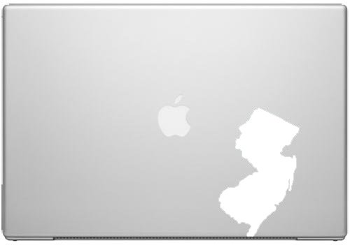 New Jersey Garden State Pride Decal Sticker - White 5