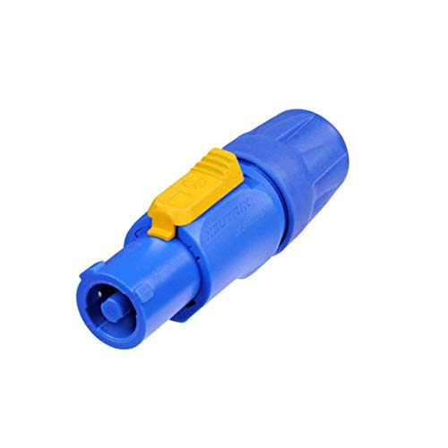 Neutrik NAC3FCA AC 20A PowerCon Lockable Cable Connector, Power-In, Screw Terminals, Blue (2 Pack) by Neutrik