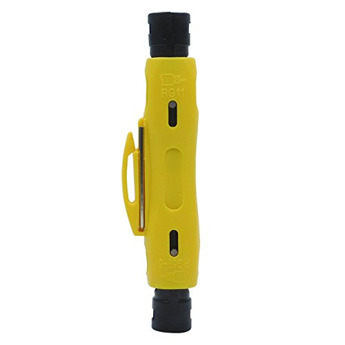 RG6 RG11 Coax Stripping Tool - Coaxial Cable Stripper Tool for RG7/11 and RG59/6 or RG6 Quad Cables by ESYLink (Image #5)