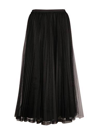 Red Valentino Femme QR3RA3303TV0NO Noir Tissu Jupe