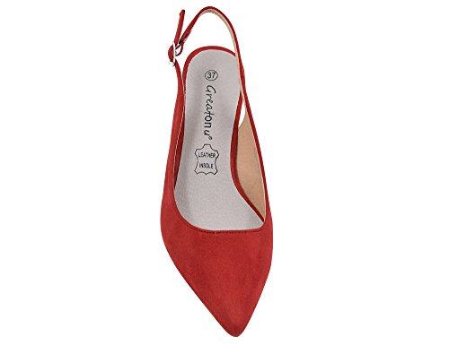 Greatonu Womens Slingback Dress Pump Red SwwDMPX8L