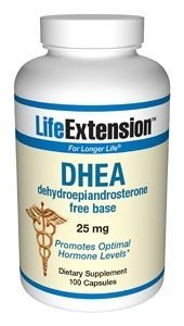 Life Extension DHEA, 25 mg, gélules, 100-Comte