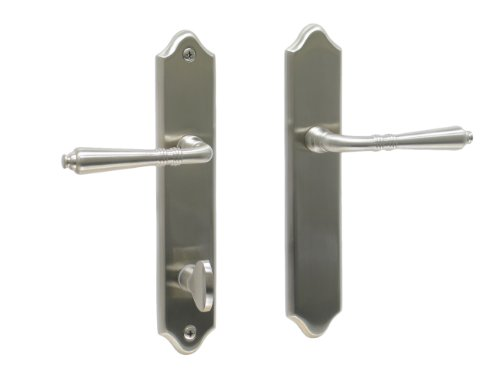 Bellagio by FPL- Solid Brass Inactive Trim Only Lever Set for Multipoint Lock, Satin Nickel