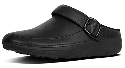 FitFlop Men's Gogh Pro in Leather Medical Professional Shoe, Black, 11 M US by FitFlop (Image #1)