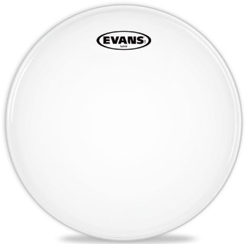 (Evans Hybrid White Marching Snare Drum Head, 13 Inch)