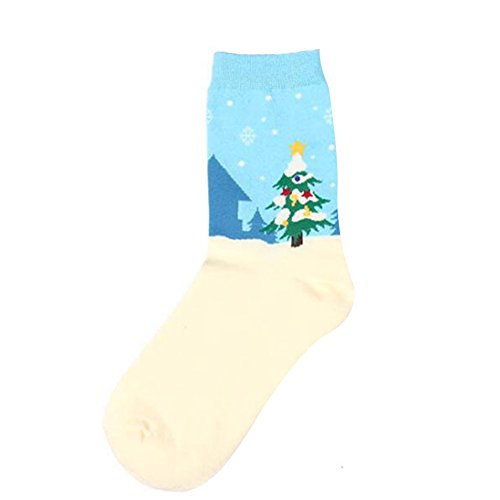 Wingbind Cute Indie Pops Cartoon Christmas Cotton Socks Snowflake Socks Christmas Elk for Winter Men and Women - Boys Cute Indie