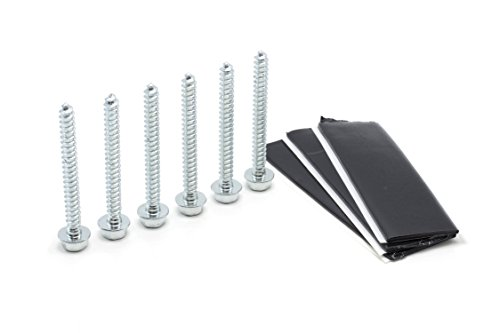 Price comparison product image THE CIMPLE CO Pitch Pad Kit by Zinc - Stainless Steel Lag Bolts (6) and Mastic Pads (3) for Roof Antennas, TV Mounts, Tripods, and Satellite Dish Installation