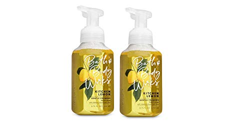 Bath and Body Works Gentle Foaming Hand Soap, Kitchen Lemon 8.75 Ounce  (2-Pack) ()