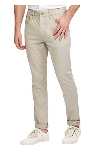 (Ralph Lauren Polo Prospect Slim Straight-Fit Stretch Sateen Flat Front Pants (Surplus Khaki, 42 30))