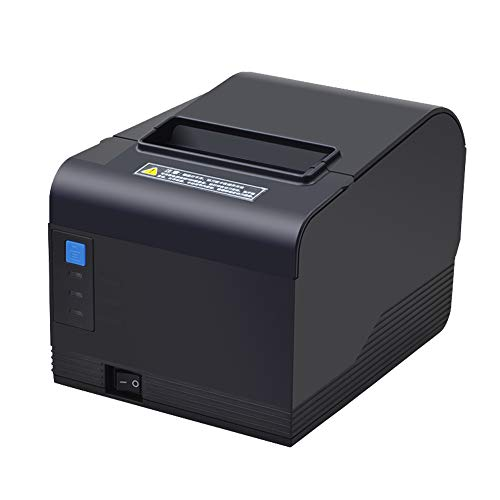 Serial Pos Printer - 3'1/8 80mm Thermal Receipt Printer USB Serial Ethernet/LAN Port Pos Printer with Auto Cutter Support Cash Drawer Wall Hanging Support Windows System
