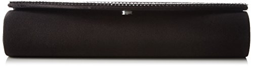 Clutch and Rhinestones Chain Women's Berydale Satin Black Schwarz with Additional EwSfpO