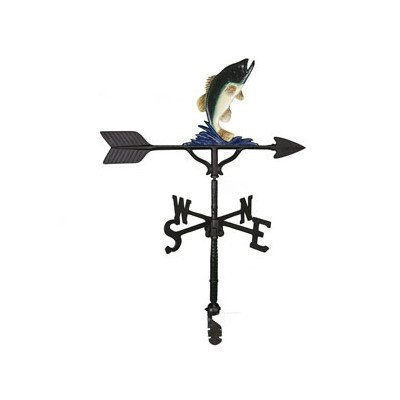 Montague Metal Products 32-Inch Weathervane with Color Bass Ornament by Montague Metal Products