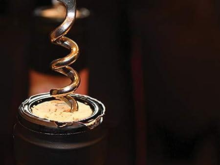 Fante's 17 Cousin Euginio - Sacacorchos de campana italiana, madera de haya, color plateado