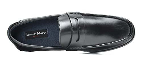 Bruno Marc Men's Harry-02 Black Pu Dress Penny Loafers Shoes – 11 M US