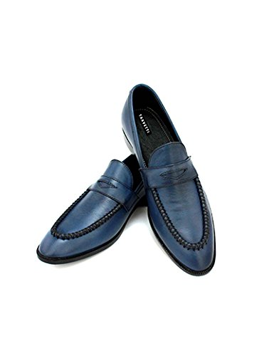 ef5e77b06c3 Taavetti Handcrafted Premium Leather Carbrey Penny Loafer Men Shoe ...