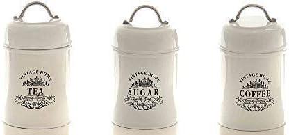 Vorratsdosen Set Vintage Home, Coffee, Tea, Sugar, Landhaus