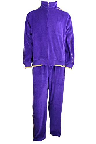 Irwin Purple Velour Tracksuit (Large)