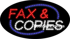 Animated Fax & Copies LED Sign