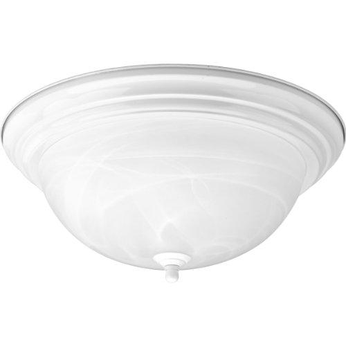 Progress Lighting P3926-30 3-Light Flushmount, White White Finish Indoor Ceiling Fixture