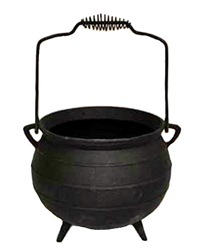 X-lg Cauldron Kettle Pot/Planter - Tripod Legs Bail Handle Cast -