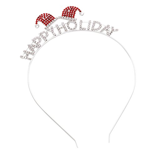 Rosemarie Collections Women's Happy Holidays Christmas Tiara Headband