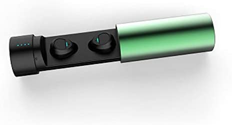Cetengkeji ブルートゥース5.0進化版、自動ペアリング、左右独立タイプ、1時間の急速充電、5時間の通話、6時間の音楽の流れ、150時間のロングプレイ、若者の間で人気のある、サラリーマンの選択 (Color : Green)