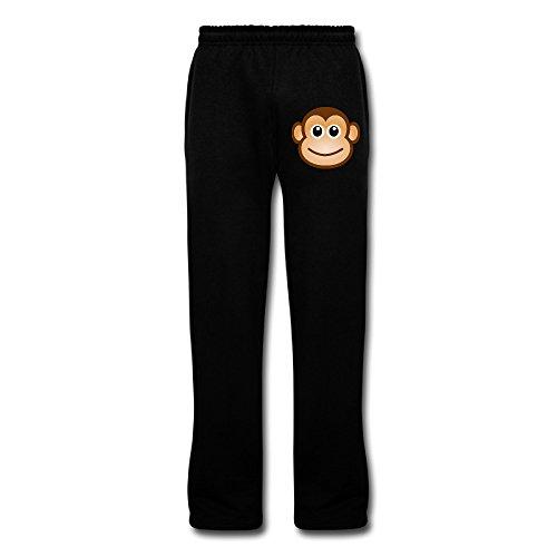 Show Time Men's Cute Cartoon Monkey Athletics Jogging Sweatpants Black XL
