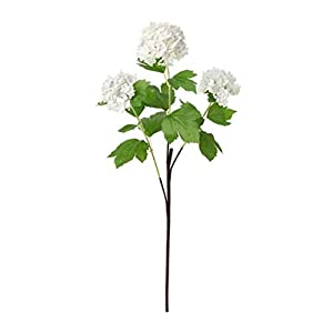 "IKEA Smycka Artificial Flower Snowball White Set of 2 Size 23 ½"" 404.097.42 43"