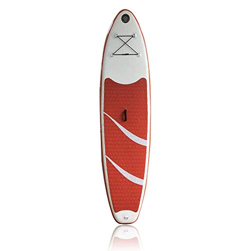 TUQI 10' Inflatable SUP Stand up Paddle Board Surfboard Adjustable Fin Paddle RED
