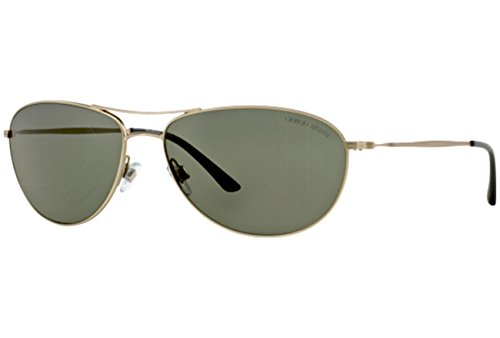 Giorgio Armani - FRAMES OF LIFE AR 6024, Aviator, metal, men, MATTE SILVER/GREEN POLARIZED(3045/58), - Giorgio Of Frames Life Armani