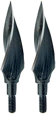Garneck 2pcs Archery Bow Tips Spiral Willow Shaped Arrow Head Retro Metal Archery Arrowhead Accessories for Wo