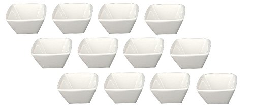 Clipper Square Porcelain China Ramekin Bone White 1.5 Oz (12)