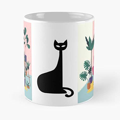 Cat Black Kitties - Ceramic Mugs