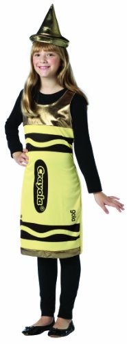Yellow Crayon Costumes - Rasta Imposta Crayola Tank Dress, Gold,