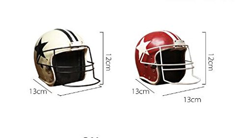 Retro American football cap furnishing articles Photo Props helmets Model furniture Windows ( Size : Red )