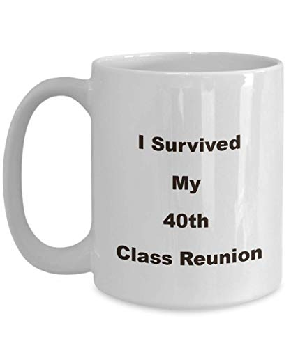 40th Class Reunion School Souvenir Mug Funny Novelty Favors Gift Husband Wife 40 Year -