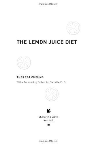 The Lemon Juice Diet PDF