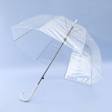 311efb907 Image Unavailable. Image not available for. Color: Clear Dome See Through  Long Handle Transparent Umbrella - Housekeeping ...