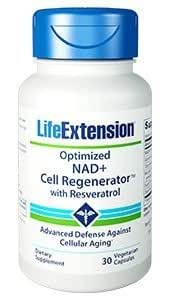 Life Extension Optimized NAD+ Cell Regenerator with Resveratrol Vegetarian Capsules, 30 Count
