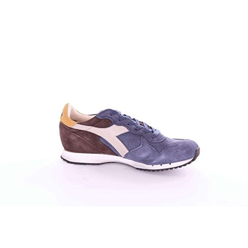 Diadora Heritage - Sneakers MI BASKET USED pour homme et femme Bleu et Marron ZzqKER